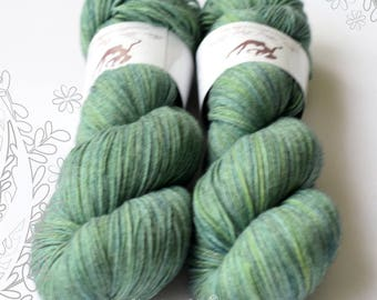 MERITON - Enchanted Forest OOAK - hand dyed yarn, 100% extra fine merino, singles, lace weight