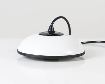 70s pendant light, STAFF pendant light, white ceiling light, 70s design lamp, black white light