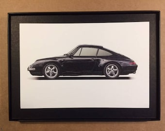 Porsche 911 Carrera Framed Art Card