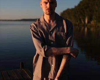 Linen Men Pajama Shirt