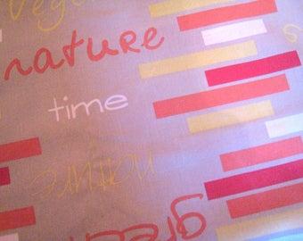 Cotton fabric vintage yellow orange 50 x 240 cm