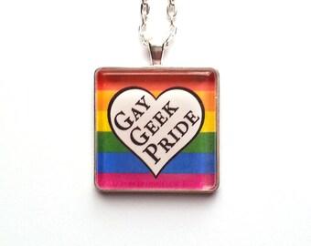 Gay Geek Pride Necklace | Rainbow Necklace | LGBTQ |