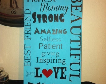 9x18 beautiful wooden sign