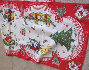 "Table Linens Bright Colorful Christmas Printed Table Runner Dresser Scarf - 15"" x 40"""