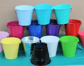 Large Buckets with single handle, pails for party decorations, home decorations
