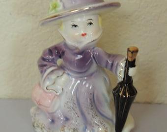 REICO Japan Lavender Girl Figurine