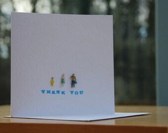 Handmade Tiny People Thank You Card