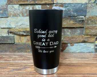 Stainless Steel Insulated Coffee Travel Mug- Custom Tumbler- Hot & Cold Drink Holder- Father's Day- Christmas- Monogrammed Office Gift