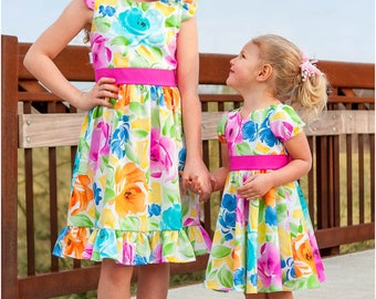 Wildflower Dress PDF Sewing Pattern: Girls Dress Pattern, Baby Dress Pattern, Flower Girl, Party Dress