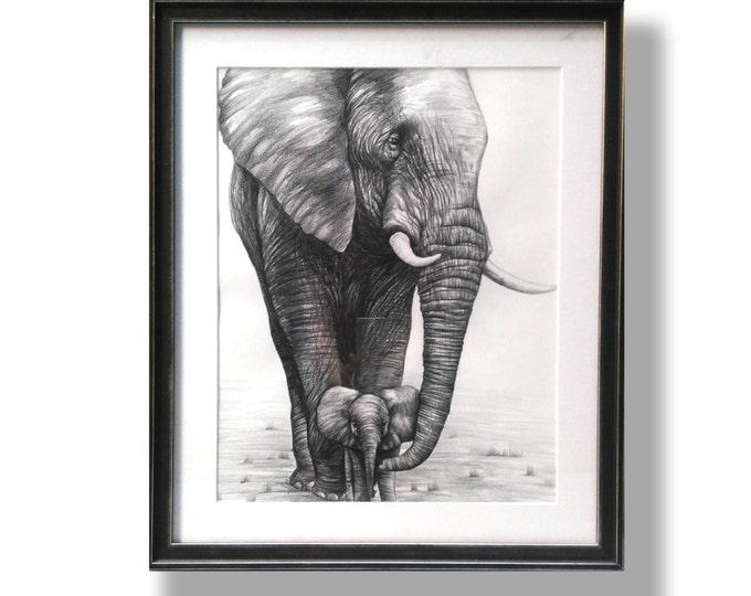 Mom and Baby - Original Drawing