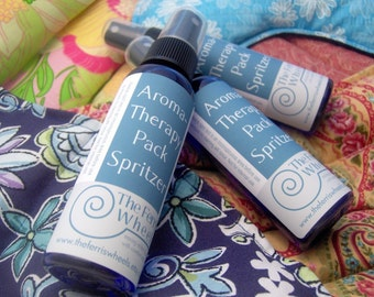 Three aromaTHERAPY Pack Spritzers for microwavable hot / cold pads - all natural essential oils