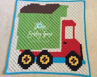 Dump Truck Blanket, Truck Baby Blanket, Dump Truck Bedding, Truck Blanket Crochet, Toddler Truck Bedding, Baby Boy Blanket, Baby Boy Afghan