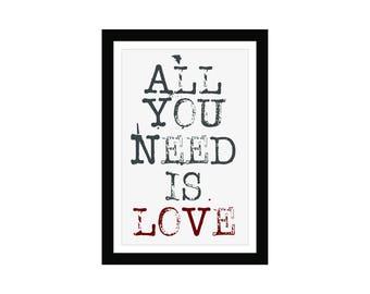 All you need is love - Song Quote