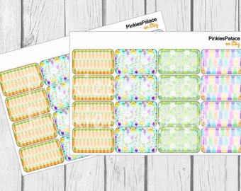 Easter Half Box Planner Stickers Life Planner Stickers set of 16 PS419f