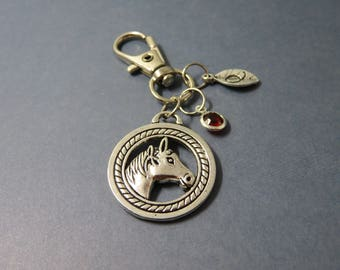 Horse Keychain - Horse Keyring - Farm - Horse Gifts - Equestrian gift - Personalised Horse Gifts - Horse Bag Charm keyring