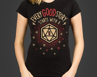 Critical Fail - An RPG Role Playing Gamer's D20 Ladies dungeon crawling t-shirt, screen printed by hand - geek gift
