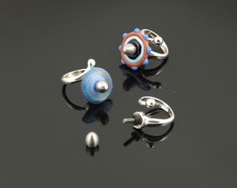Adjustable Interchangeable Disc Bead Ring