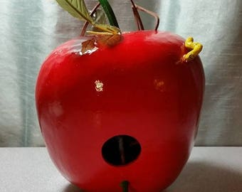 Gourd Birdhouse - Red Apple