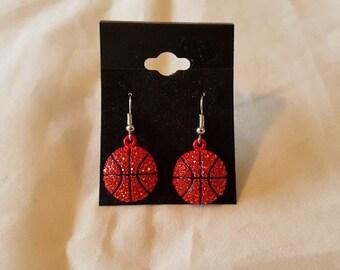 Basetball Rhinestone Earrings