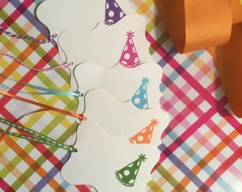 Embossed Birthday gift tags