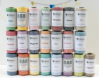 SALE Bakers Twine Spool - Gift Wrap // Packaging // Scrapbooking - 240 yard - Colorful