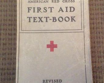 American Red Cross, First Aid Text Book, 1940, Softcover