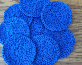 Facial scrubbies, scrubbies, cotton scrubbies, cotton pads, rounds, cleansing pads, reuseable pads, go green, cleansing, makeup removal