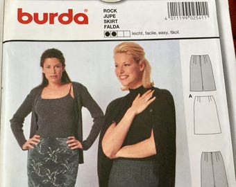 Burda 2541 Skirt Close Fitting in 2 lengths, sizes 8-22, Uncut