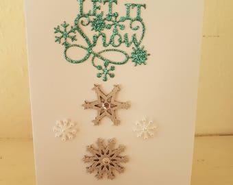 A beautiful handmade Christmas card