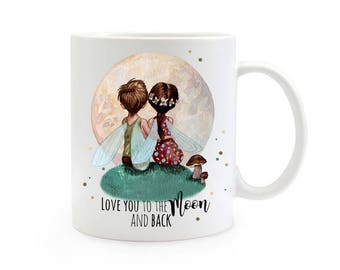 Gift coffee cup Elves spell love TS381