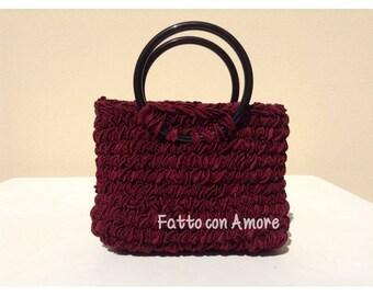 Crochet bag, hand bag, evening bag, made in Italy, crochet bag, handmade