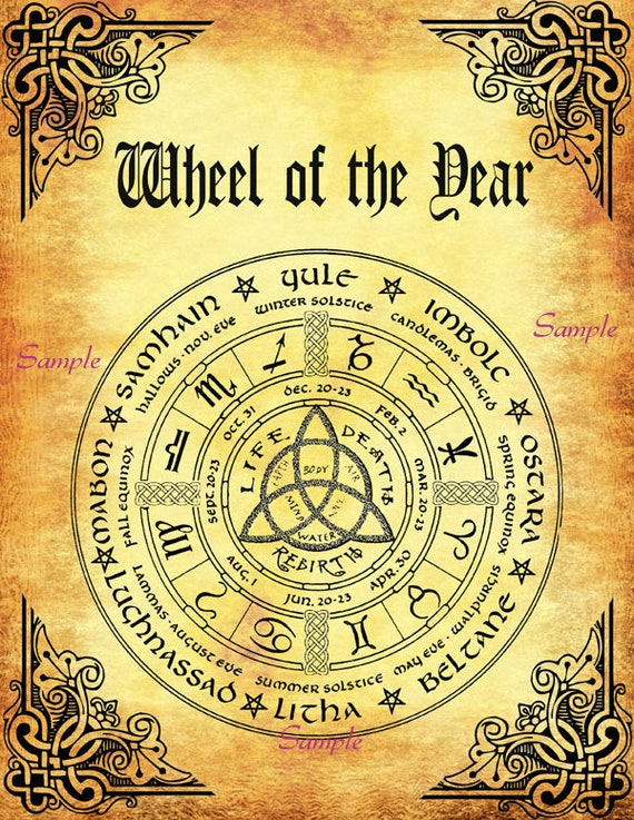 Bos 10 Pages Lammas Pagan Ritual Wiccan Weel Of The Year