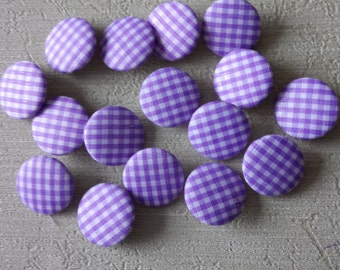 """Fabric  Covered  Buttons Sewing Buttons 3/4"""" 20mm X  16 Pcs."""