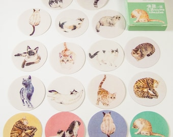 40 Sticker Set/cats/DIY Filofaxing scrapbooking Aufkeber