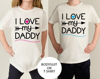 Daddy's Boy Shirt - Daddy's Girl Shirt - Father Daughter - Father Son - Fathers Day Gift - Matching Family Shirts - Toddler Shirt