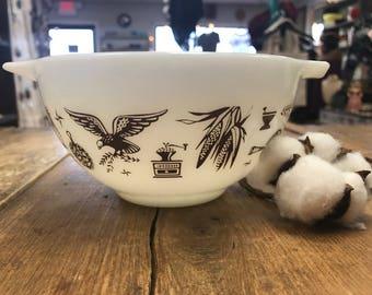 Vintage Pyrex Early American Smallest Cinderella Bowl Milk Glass