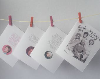 Set of 4 Golden Girls note cards