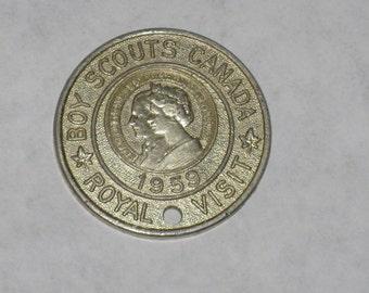 1959 Boy Scouts of Canada royal visit commemorative token