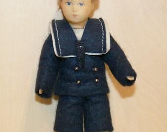 Vintage Doll -Lovely Erna Meyer Boy/ Dollhouse doll/made in Germany/Miniatures/Dollhouse Child