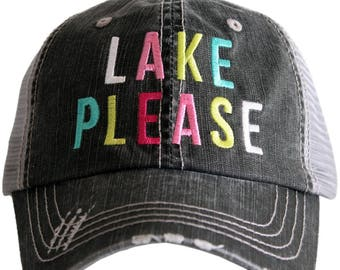 Lake Please Lake Hair Don't Care Trucker Hat