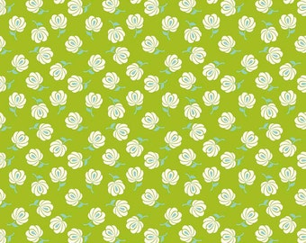 Primavera Buds in Green Cotton Fabric by Patty Young for Riley Blake