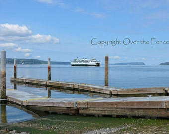 Ferry Boat to Whidbey Island Blank Photo Card Fine Art Photography