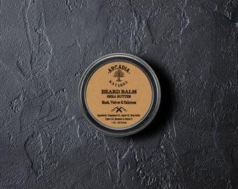Handmade Natural Beard Balm, Men's skin care, Beard Moisturizer, Bear Conditioner, Beard styling, Musk, Vetiver & Oakmoss
