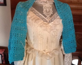 Crocheted bed jacket