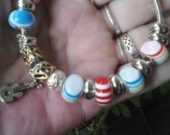Rainbow of music, Euro style bracelet