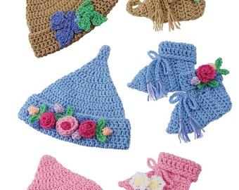 Elfin Baby Sets Crochet PDF Pattern Pixie Elf