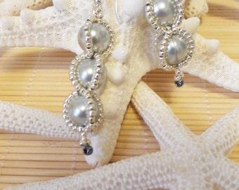 Swarovski Spiral Beaded Earrings