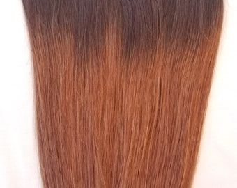18″ 100% Ombre Clip in Human Hair Extensions 7Pcs,14 clips # T2/30