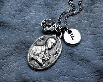Saint Gemma Galgani Necklace / St Gemma Galgani / Catholic Saint / Get Well Gift / Catholic Jewelry / Catholic Necklace / Catholic Gift