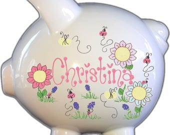 Personalized Piggy Bank - Personalized with child's name and design
